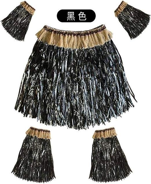 MIKI Shop Falda de césped Hawaiana con Mangas elásticas para los ...
