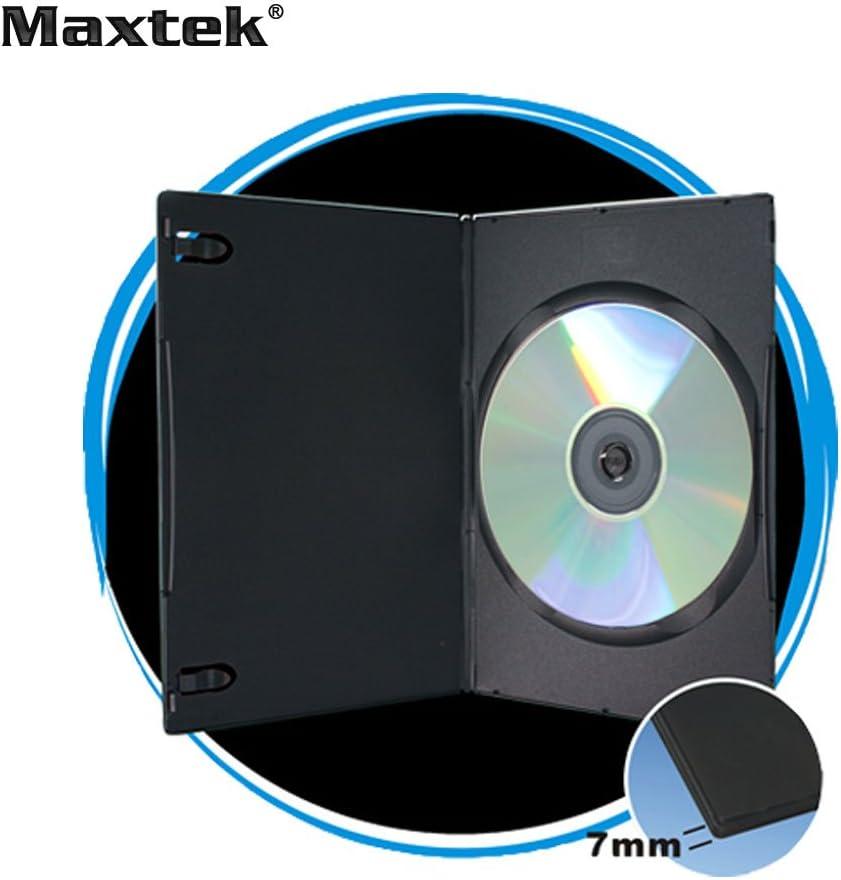 Maxtek 7mm Slim Black Single CD/DVD Case, 100 Pieces Pack.: Home & Kitchen