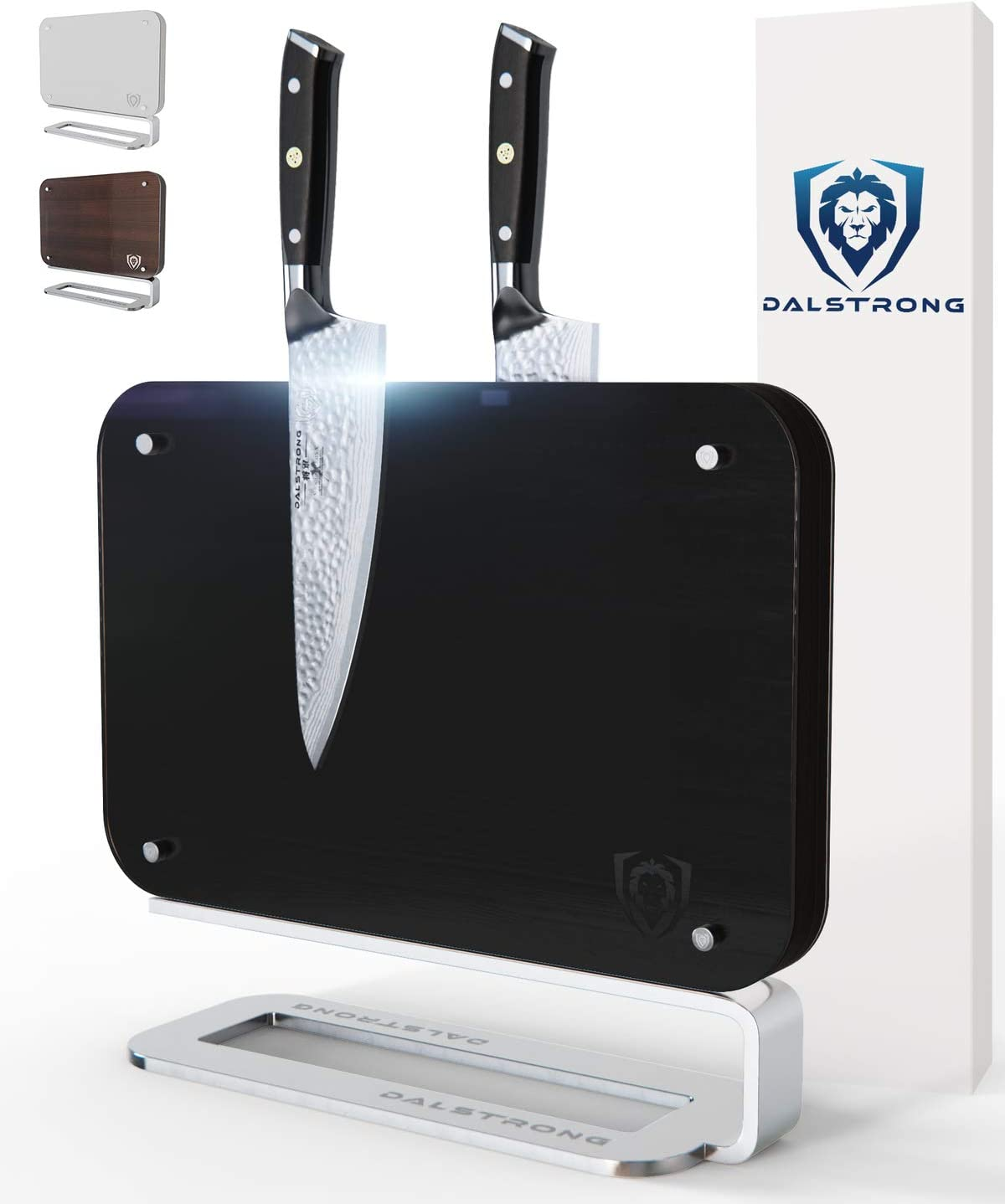 Dalstrong - Magnetic Blade Wall - Doubled Sided - Compact Knife Storage & Display Stand- Acacia Wood - 14.5 x 11.7 (Vader Black)