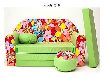 sélection premium eee8f 64521 articolicasaonline Sofa Enfant 2 Places Se transforme en Un canapé-lit