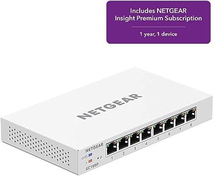 Amazon.com: NETGEAR Insight GGC108P - Conmutador de red ...