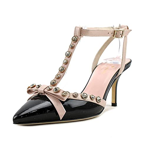 90f7315f9 kate spade new york Women's Julianna Black Patent/Pale Pink Nappa Shoe