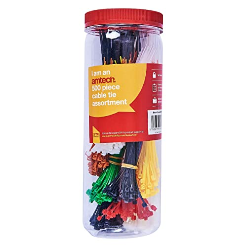 Amtech S0680 Assorted Cable Tie, 500-Piece