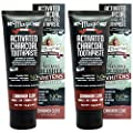 My Magic Mud Activated Charcoal Toothpaste for Whitening, Deep Cleaning, Polishing, Detoxifying, Brighter Teeth, Reduces Sensitivity, All Natural Oral Care, Non-GMO, Cinnamon Clove, 4 oz. (Pack of 2)