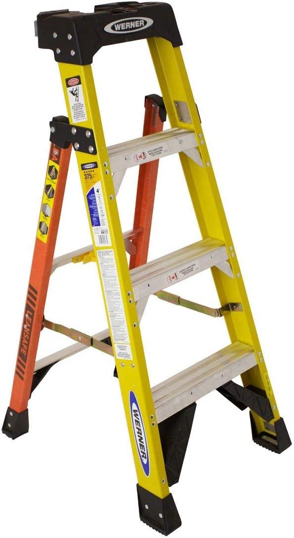 Werner L7304 4 pies. Type IAA - Escalera de fibra de vidrio: Amazon.es: Bricolaje y herramientas