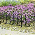 Emsco Group 2083HD Victorian Fencing Small Garden Lawn Edging, Black