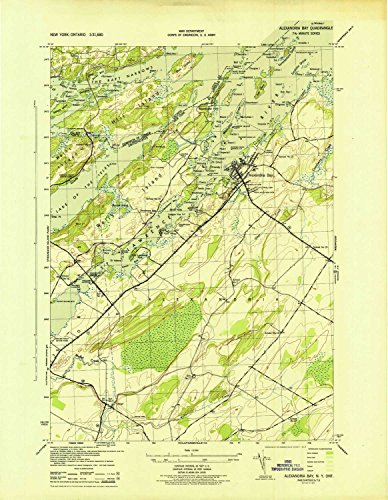 YellowMaps Alexandria Bay NY topo map, 1:31680 Scale, 7.5 X 7.5 Minute, Historical, 1943, 21.9 x 17 in - Paper