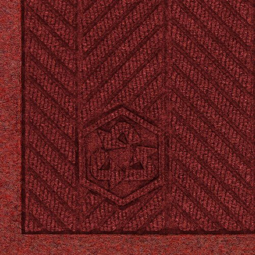 M+A Matting 2241 Waterhog Fashion ECO Elite PET Polyester Entrance Indoor Floor Mat, SBR Rubber Backing, 5' Length x 3' Width, 3/8
