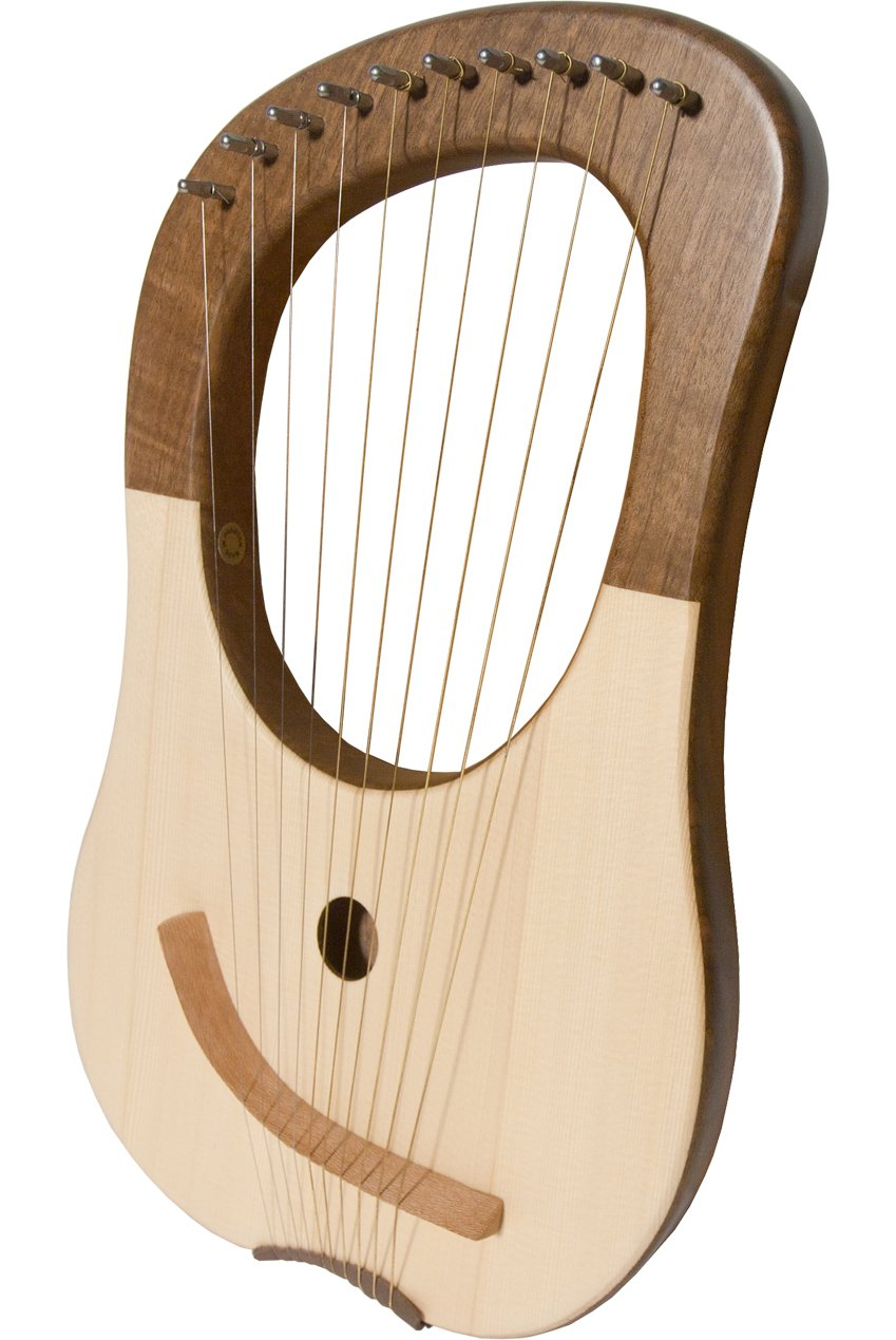 Mid-East 10-String Lyre Harp - Walnut by Mid-East