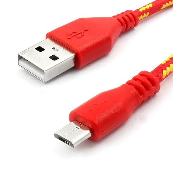 Amazon.com: eDealMax USB Nylon trenzado de alambre 2.0 A ...