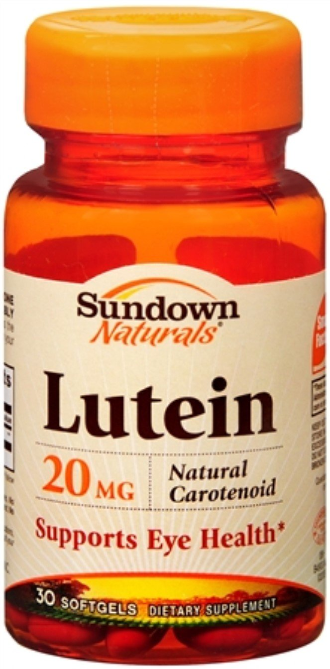 Sundown Naturals Lutein 20 mg Softgels 30 Soft Gels (Pack of 12)