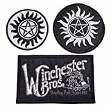 Supernatural Anti-possession - Winchester Bros Set of 3 Iron on Patches