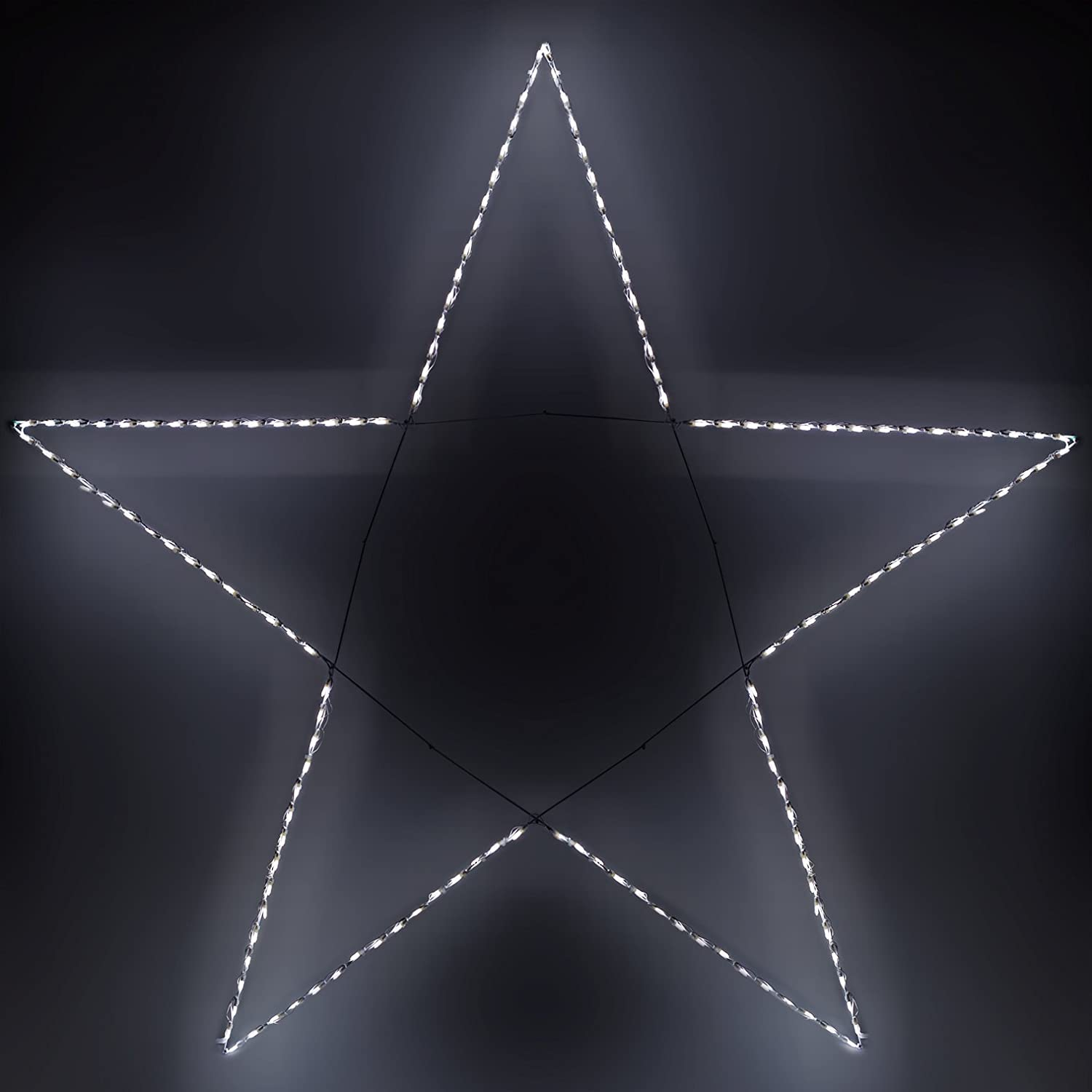 Amazon 85 giant led folding 5 point star 150 cool white amazon 85 giant led folding 5 point star 150 cool white lights string lights garden outdoor aloadofball Choice Image