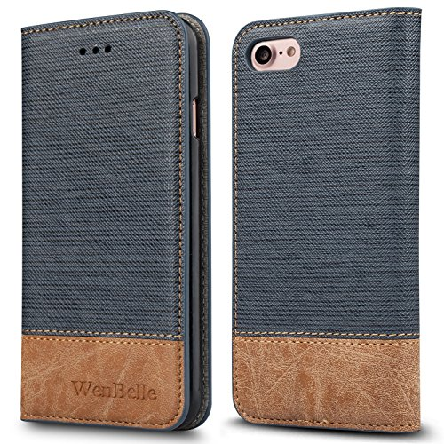 For iPhone 7 / iPhone 8 Case,WenBelle [Blazers Series]Stand Feature,Premium Soft PU Color matching Leather Wallet Cover Flip Cases For apple iPhone 7 & iPhone 8 Case 4.7 Inch (Phone Covers Fabric Snap)