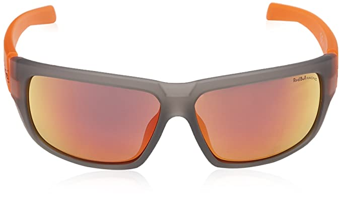 Red Bull Racing Eyewear Unisex - Erwachsene Sonnenbrillen Sports-Tech, Gr. One Size, Grey Rubber & Neon-Orange Rubber Temple/Smoke With Red Revo