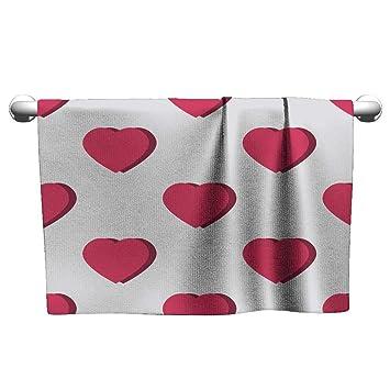 Amazon.com: Toalla estilo clayee con diseño de corazón de ...