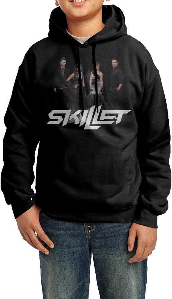 YHTY Youth Boys/Girls Sweatshirt Skillet Team Black
