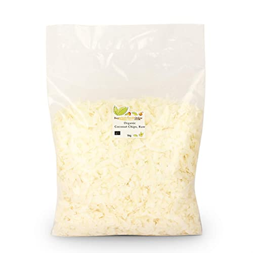 Buy Whole Foods Organic Coconut Chips Raw, 1 Kg