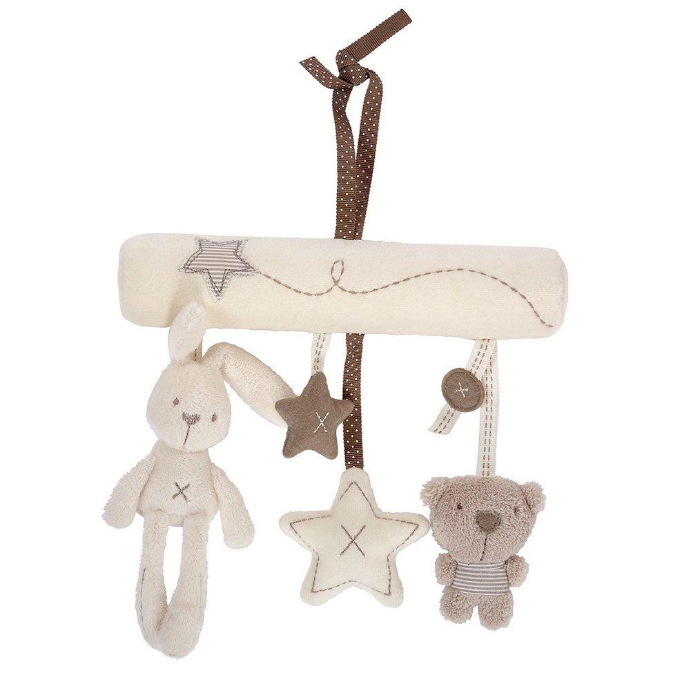 Westeng Bebé música de peluche para cochecito de bebé juguetes de peluche conejo colgante de en forma de estrella EBUYAZ12A