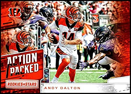 146f3a1eca3 2018 Rookies and Stars Action Packed  15 Andy Dalton Cincinnati Bengals NFL  Football Trading Card