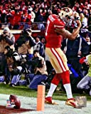 Colin Kaepernick Touchdown 2012 NFC Divisional Playoff Action Photo 8 x 10in