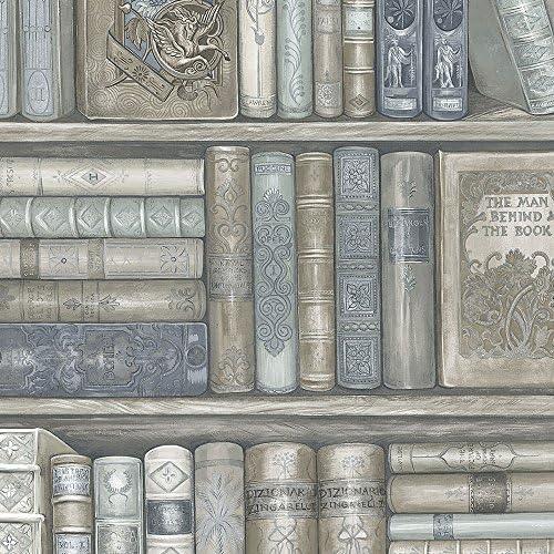 パットンWallcoverings ll36203ノベルティ本棚壁紙