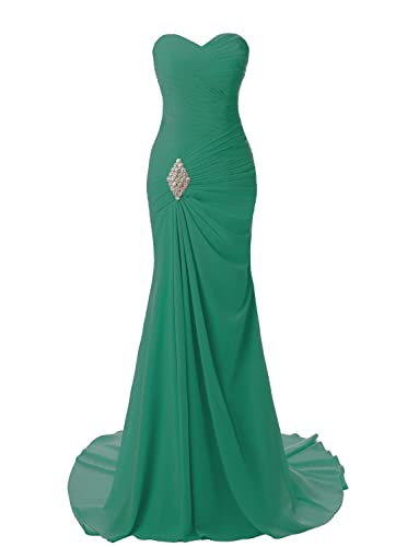 JYDress Women's Sweetheart Mermaid Long Evening Dress Formal Prom Gowns