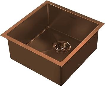 Gunmetal Whitehaus WHNPL1818-GM Noah Plus Collection Kitchen Sink
