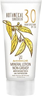 product image for Australian Gold Botanical Sunscreen Mineral Lotion, SPF 30, 5 Ounce | Broad Spectrum | Water Resistant
