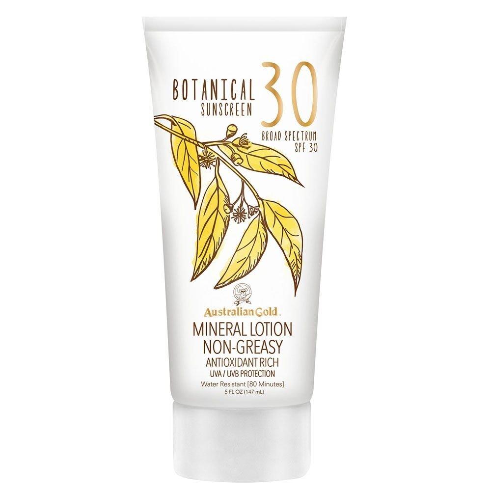 Australian Gold Botanical Sunscreen, Broad Spectrum, Water Resistant, SPF 30, 5 Ounce