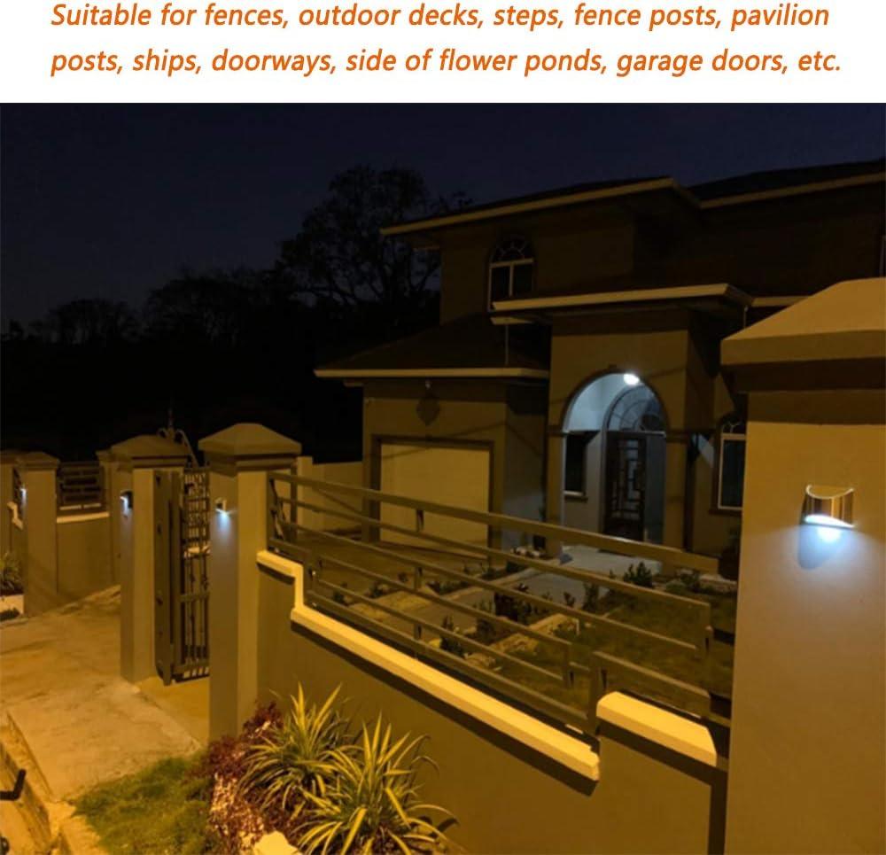 patios traseros escaleras utilizada para cercas garajes Luz solar de seguridad para el hogar luz de pared solar impermeable al aire libre jardines 4 Pack puertas de entrada sin cableado