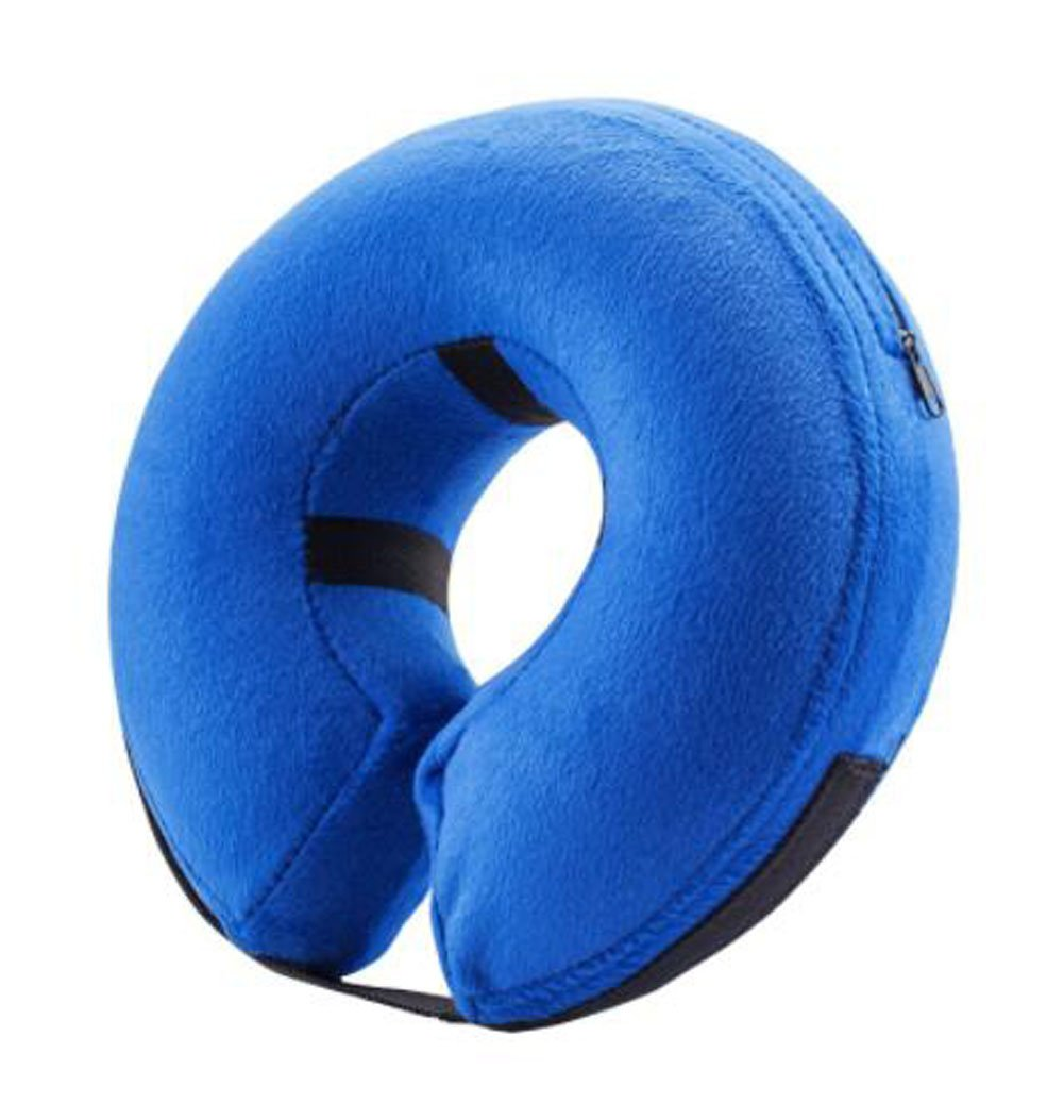 Inflatable Pet Collar Dog Cat Soft Pet E-Collar Wound Healing Recovery Protective Collar (NECK CIR 15-22 inch)