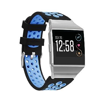 ECHOOSE para Fitbit Ionic RoHS Banda de Silicona Deporte ...