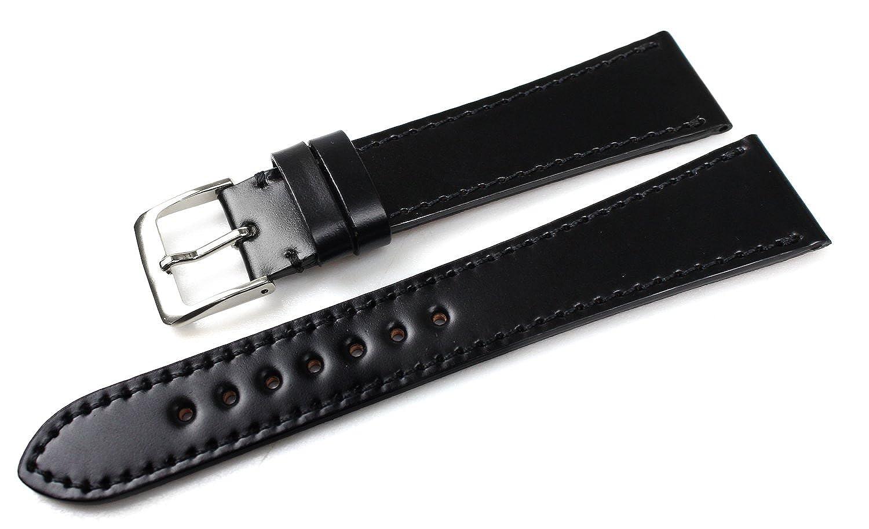 ロコッテRocotte コードバン 20mm 黒(00) 時計 ベルト バンド [腕時計][クロノワールド chronoworld][簡単キット付]  B00RUQM532