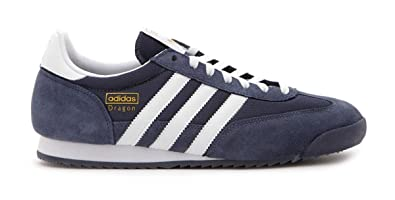 531531bc2a9d96 Adidas Originals Dragon Navy Blue With White Stripes Suede   Mesh Retro  Casual (8.5 UK