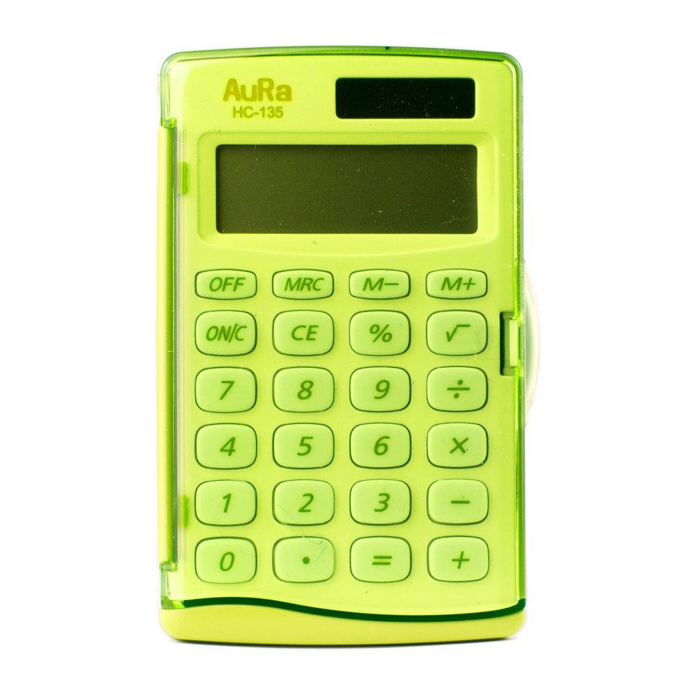 color verde Aura HC-135 Calculadora