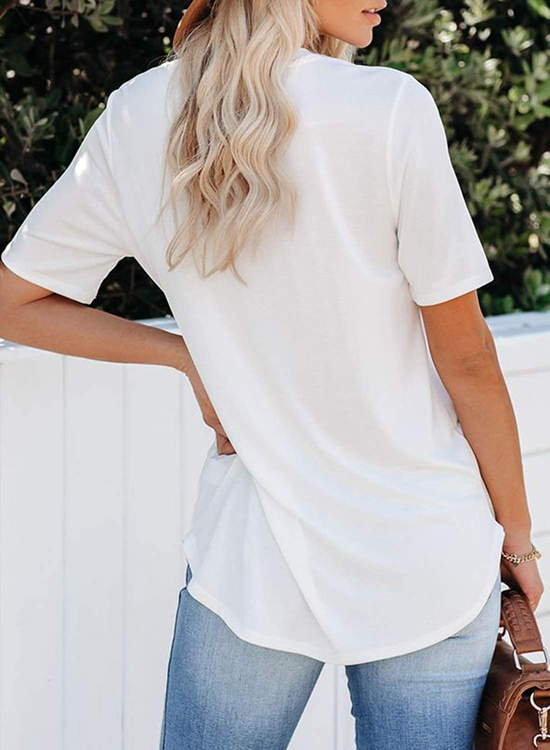 Shed Protector Womens Round Neck Short Sleeve Shirts Loose Casual Tee Tops Blouses