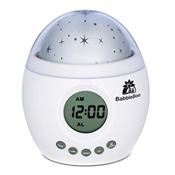 Babbleboo Baby Night Light Lamp U0026 Children Bedroom Alarm Clock Star  Projector With MP3 Player,