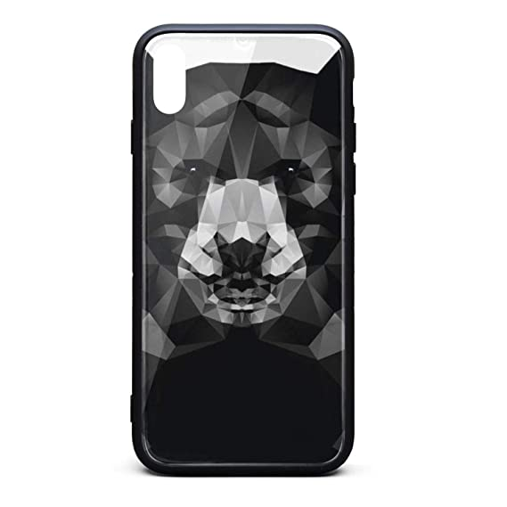 best loved d75dd 21b9c Amazon.com: Black Bear Phone Case for iPhone Xs Max TPU Full ...