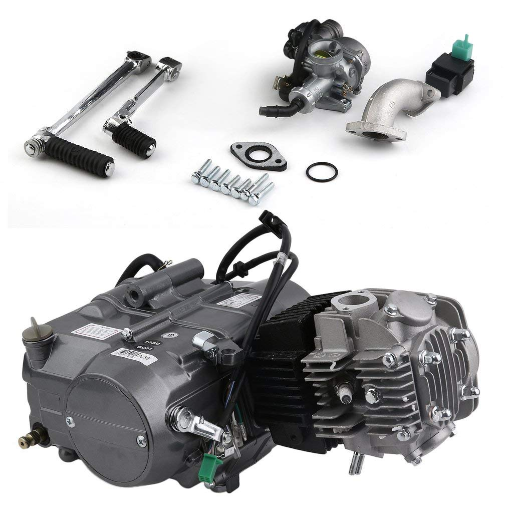 Amazon.com: 125cc Engine 4 Stroke Motor, CATUO Premium Dirt Pit Bike  Motorcycle Engine Motor Starter Carb Complete Kit for Honda XR50 CRF50 QR50 XR70  CRF70: ...