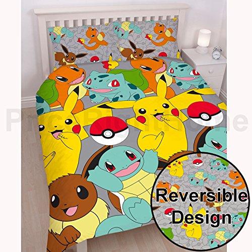 Pokemon Catch UK Double/US Full Duvet Cover Set (Character Double Bedding)