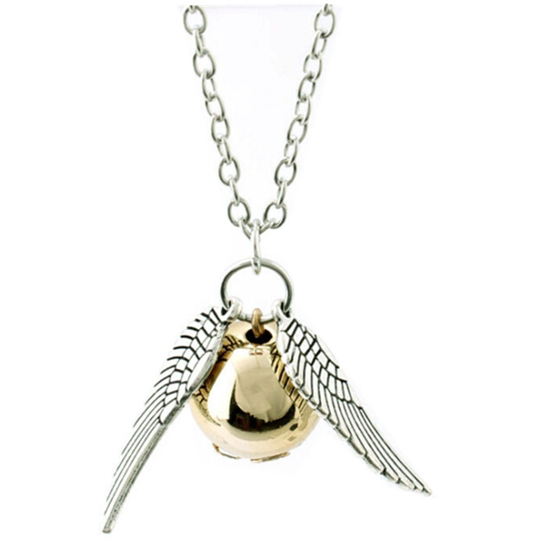 ANKRY Fairy Jewelry Harry Potter Golden Snitch Quicksilver Golden Pearl Necklace