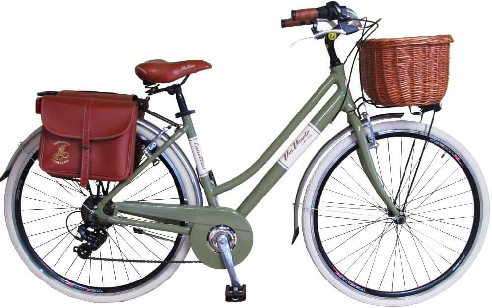 Via Veneto Bicicleta Clasica de Paseo - Retro Alu Donna, Verde ...