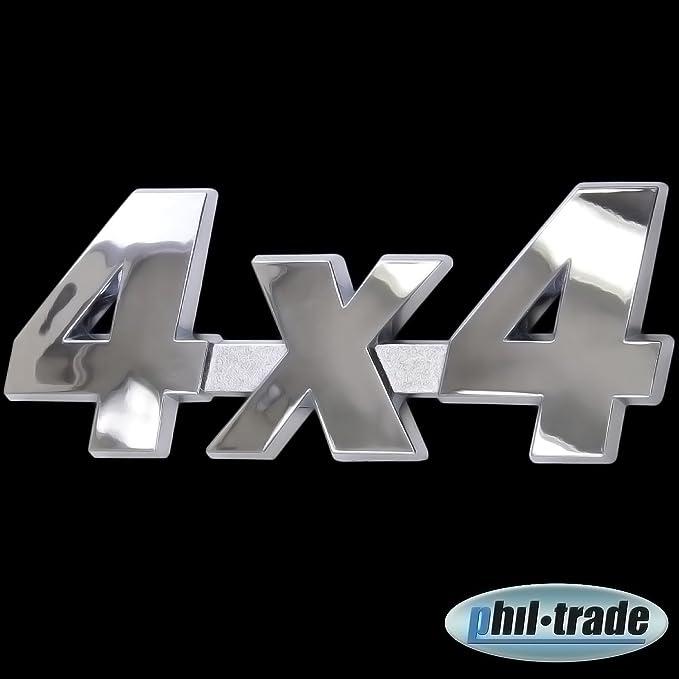 3d Chrom Emblem Aufkleber Logo 4x4 Allrad Tuning Motor Renn Sport L031 Auto