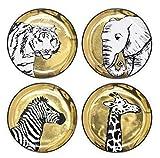 Jonathan Adler Animalia Coasters, Gold