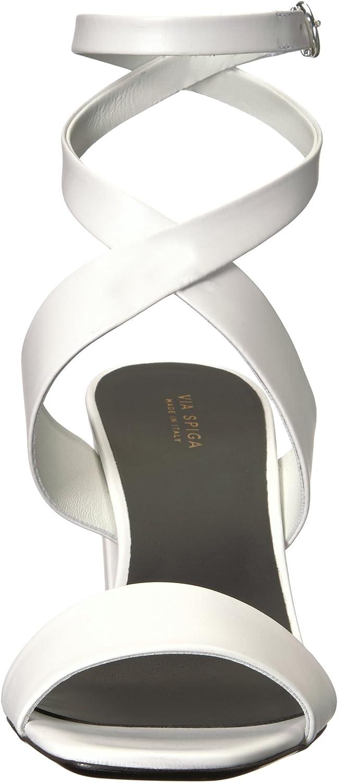 Via Spiga Femmes Sandales À Talon Porcelain Leather