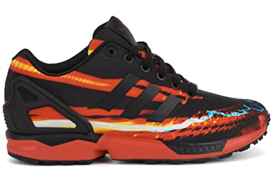 classic fit d4cba 5f2ea Adidas Men s ZX Flux Red Rush Streaks Sneakers B34140 Red   Black Carbon US  11