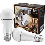 Dusk to Dawn Light Bulb 9W Auto On/Off Photocell Sensor Bulbs E26/E27 Base LED Security Bulbs 2700K Soft White for Porch…