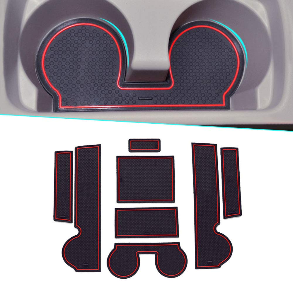 muchkey For 2010-2015 Mitsubishi Lancer Non-Slip Car Interior Door Slot Pad Anti-dust Interior Cup Mats White 8PCS/Set