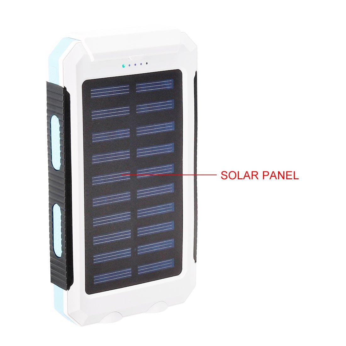 Amazon.com: uxcell Cargador Solar, 1,5 W, 8000 mAh Dual USB ...